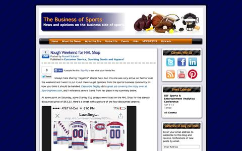 Screenshot of Support Page thebusinessofsports.com - Customer Service | The Business of Sports - captured Oct. 7, 2014
