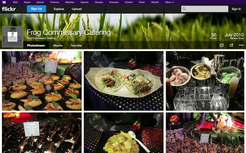 Screenshot of Flickr Page flickr.com - Flickr: Frog Commissary Catering's Photostream - captured Oct. 23, 2014
