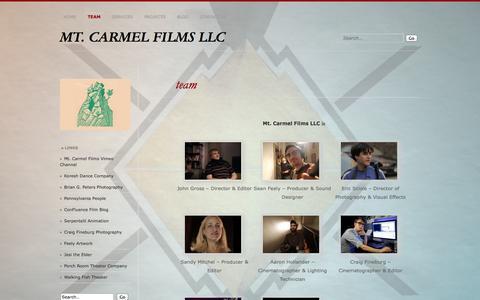 Screenshot of Team Page mtcarmelfilms.com - team | MT. CARMEL FILMS LLC - captured Nov. 4, 2014