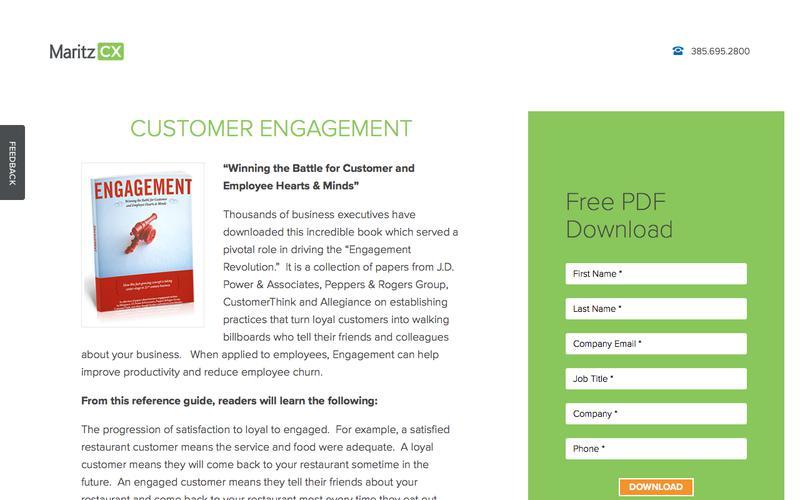 Customer Engagement (Allegiance) | MaritzCX