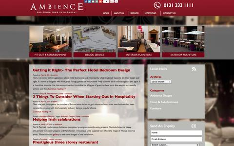 Screenshot of Press Page ambiencedesigns.co.uk - News - Ambience Designs - captured Sept. 30, 2014