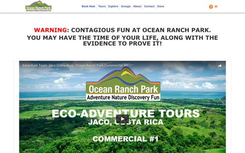 Screenshot of Press Page oceanranchpark.com - Media   Ocean Ranch Park Eco Adventure Tours - captured May 10, 2017