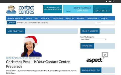 Screenshot of Home Page contact-centres.com - Home - Contact-Centres.com - captured Dec. 14, 2015