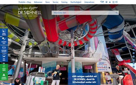 Screenshot of Home Page dr-schnell.com - »Qualität und Service« ist unser Maßstab in allem, was wir tun: DR.SCHNELL - captured Sept. 18, 2014
