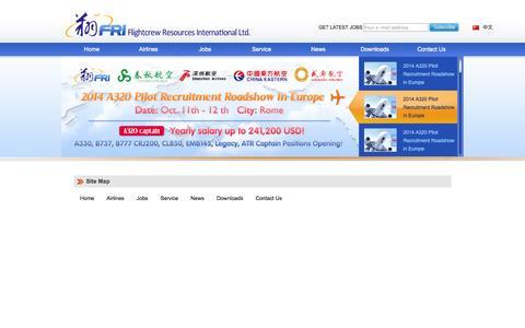 Screenshot of Site Map Page chinaflightcrew.com - Sitemap - Pilot Job in China – FRI - captured Oct. 6, 2014
