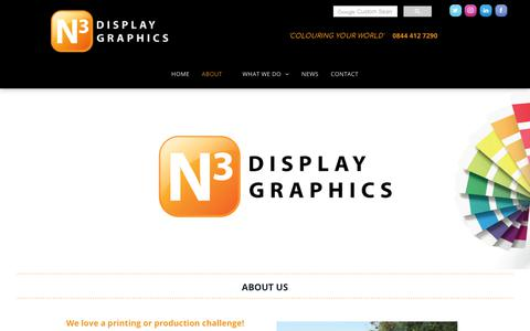 Screenshot of About Page n3display.co.uk - Exhibition Display Graphics Company About Us - captured Dec. 20, 2018