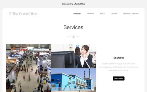 Screenshot of Services Page the-china-office.com - Services    The China Office - captured June 14, 2017
