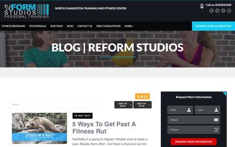 Screenshot of Press Page reformstudiossc.com - Blog | reFORM Studios - captured Oct. 21, 2017