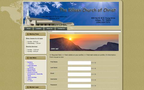 Screenshot of Signup Page kcofc.org - Sign up - captured April 16, 2017