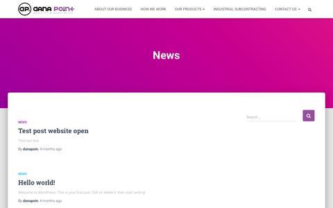 Screenshot of Press Page danapoint.ro - News – DANA POINT - captured Dec. 19, 2018