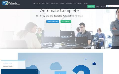 Screenshot of Products Page networkautomation.com - Business Process Automation Software - AutoMate - captured Aug. 2, 2017