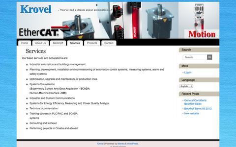 Screenshot of Services Page krovel.hr - Services   - Krovel - captured Sept. 30, 2014
