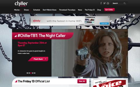 Screenshot of Home Page chillertv.com - Chiller   Scary Good - captured Sept. 19, 2014