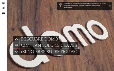 Screenshot of Home Page domo.es - Domo | Innovación centrada en las personas - captured Oct. 5, 2014