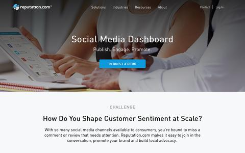 Social Media Dashboard, Sentiment Analysis