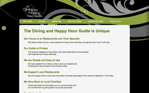 Screenshot of About Page xsahm.com - About the Dining and Happy Hour Guide | Xsahm - captured Oct. 6, 2014