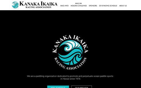 Screenshot of Home Page kanakaikaika.com - Kanakaikaika Racing Association - captured June 28, 2018