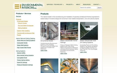 Screenshot of Products Page environmentalinteriors.com - Products Archive - Environmental Interiors Inc. - captured Oct. 2, 2014