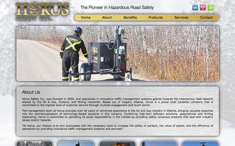 Screenshot of About Page horusinc.ca - About Us | - captured Oct. 27, 2014