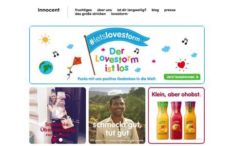 Screenshot of Home Page innocentdrinks.de - innocent – Obst zum Trinken - captured Aug. 8, 2015