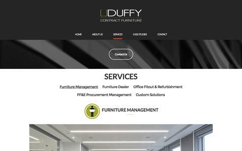Screenshot of Services Page ljduffy.com - Furniture Management – LJ Duffy, Inc. - captured Oct. 12, 2016