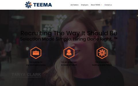 Screenshot of Home Page teemagroup.com - Home - TEEMA Solutions Group Inc - captured Jan. 12, 2018