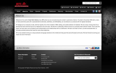 Screenshot of About Page autotechinteriors.com - About Us - captured Oct. 4, 2014