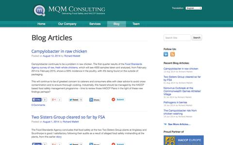Screenshot of Blog mqmconsulting.co.uk - Blog | MQM Consulting - captured Oct. 27, 2014