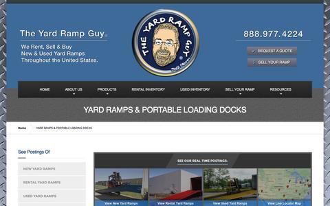Screenshot of Products Page yardrampguy.com - Yard Ramps & Portable Loading Docks | The Yard Ramp Guy® - captured Feb. 17, 2016