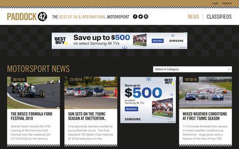 Screenshot of Press Page paddock42.com - Motorsport News | Race Cars for sale | Classic Cars for sale - captured Nov. 4, 2018
