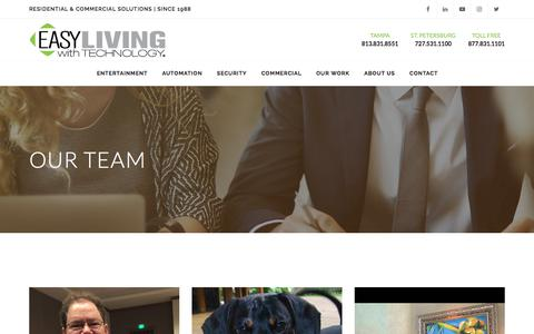 Screenshot of Team Page easyliving.net - Meet the Team | Easy Living With Technology - captured July 13, 2017