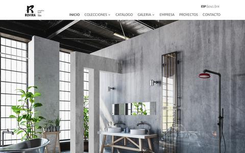 Screenshot of Home Page griferiarovira.com - Rovira | Creative bath - captured Sept. 21, 2017