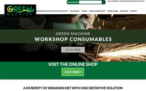 Screenshot of Home Page greenmachine.co.za - Green Machine: Home - captured Sept. 25, 2018