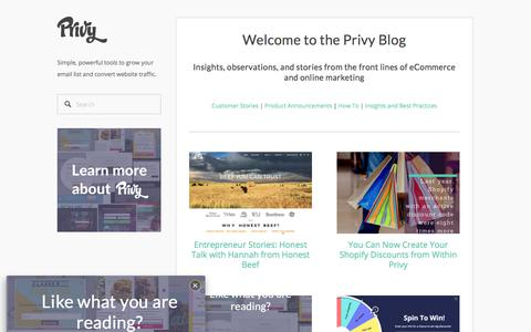 Privy | Blog Summary Page