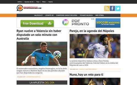 Screenshot of Home Page deportevalenciano.com - Noticias deporte valenciano   Deporte Valenciano - captured Nov. 17, 2015