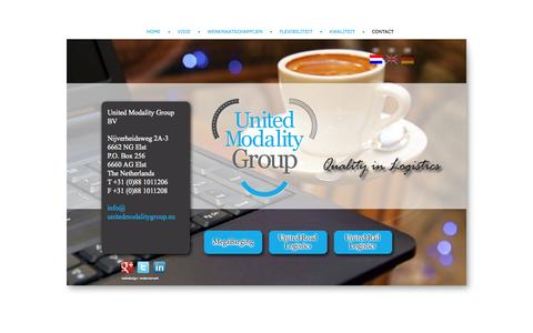 Screenshot of Contact Page unitedmodalitygroup.eu - Contact | United Modality Group - captured Sept. 30, 2014