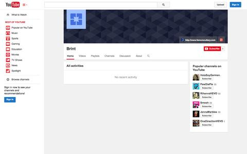 Screenshot of YouTube Page youtube.com - Brint  - YouTube - captured Oct. 23, 2014