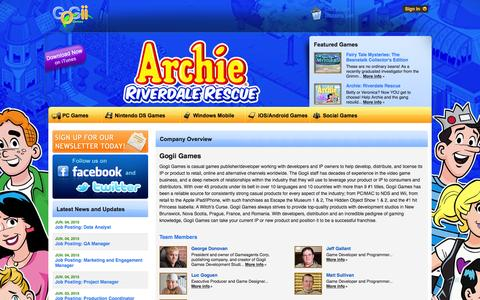 Screenshot of About Page gogiigames.com - Overview | Gogii Games - captured June 17, 2015