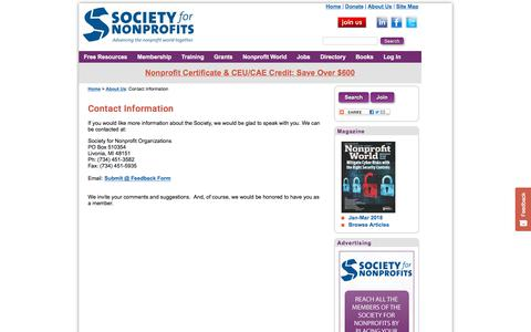 About Us - Contact Information | Society for Nonprofits