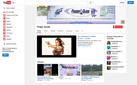 Screenshot of YouTube Page youtube.com - Finger Guide  - YouTube - captured Oct. 23, 2014