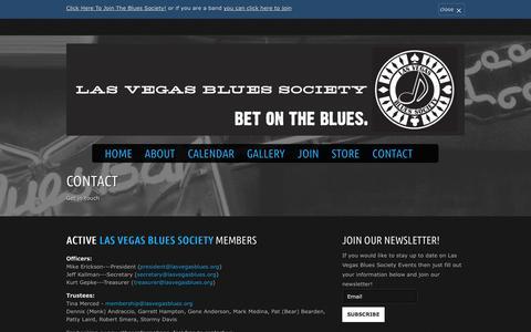 Screenshot of Contact Page lasvegasblues.org - Contact - Las Vegas Blues Society - captured Oct. 2, 2014
