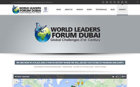 Screenshot of Contact Page worldleadersforumdubai.com - World Leaders Forum Dubai | Contact - captured Oct. 9, 2014