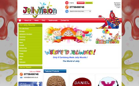 Screenshot of Home Page jellyvision.co.uk - Home page - captured Sept. 30, 2014