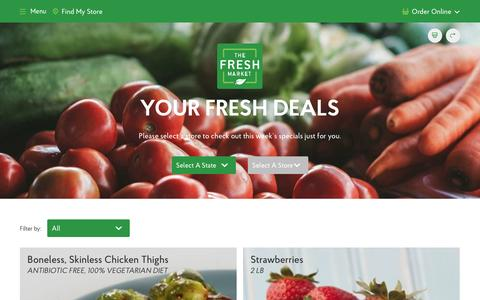 Weekly Grocery Store Deals at The Fresh Market | Save on Groceries! - The Fresh Market