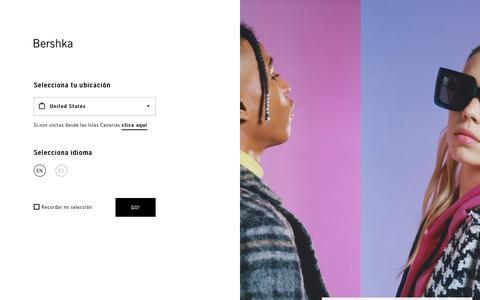 Screenshot of Home Page bershka.com - Worldwide Page - captured Aug. 21, 2019