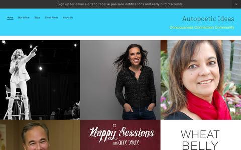 Screenshot of Home Page ideasfestival.ca - Autopoetic Ideas - captured Feb. 6, 2016