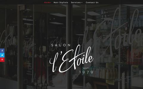 Screenshot of Home Page salonletoile.com - Home - Salon l'Etoile - captured Oct. 1, 2018