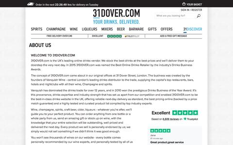 Screenshot of About Page 31dover.com - About Us | 31DOVER - captured Sept. 22, 2018