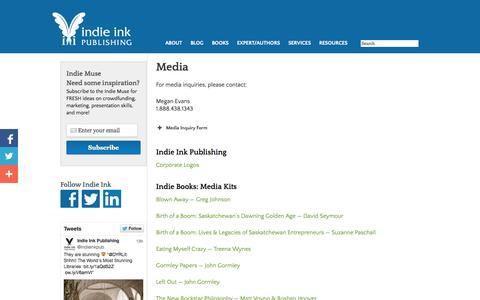 Screenshot of Press Page indieinkpublishing.com - Media - captured Sept. 30, 2014