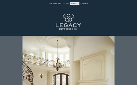 Screenshot of Services Page virb.com - SERVICES - Legacy Interiors Inc. - captured Sept. 18, 2014